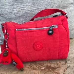 Handbags - Kipling Wes Crossbody cayenne red bag with Zoe
